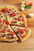 Pizza peperoni — Foto Stock