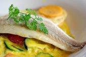 Sea bass fish fillet — Stock Photo