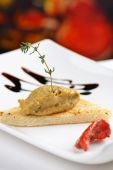 Appetizer Foie gras — Stock Photo