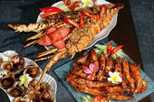 Grilled Seafood & Lobster — Stock Photo