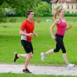 Young couple jogging — Stock Photo #57239959