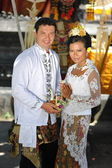 Traditional wedding in Balinese temple — Stock Photo