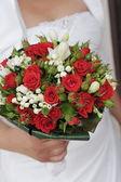 Bride   beautiful bouquet — Stock Photo