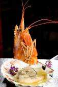 Kings prawn with spices — Stock Photo