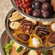 Table full of various tasty and fresh food — Stockfoto #57240131