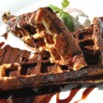 Tasty Chocolate Waffles — Stock Photo #57240457