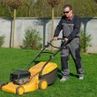 Lawn mower man working — Stock Photo #57241209