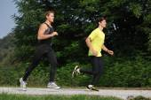 Two  Athletes Running — Photo