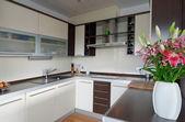 Interior of stylish kitchen — Stock Photo