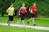 Group of athletes jogging — 图库照片