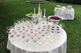 Catering, Wedding reception — Stock Photo