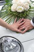 Beautiful wedding bouquet — Stock Photo