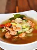 Tom Yum Goong soup — Stock Photo