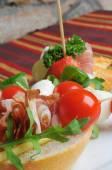 Cold snacks on buffet table — Stok fotoğraf