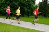 Group of athletes jogging — Stok fotoğraf