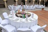 Wedding reception area — Stock Photo