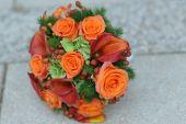Roses  wedding bouquet — Stock Photo