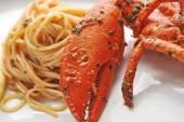 Seafood pasta linguine — Stock Photo