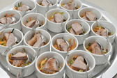 Catering, a lot of cold snacks — Stok fotoğraf