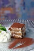 Tiramisu - Classical Dessert with Mascarpone and Coffee — Foto Stock