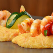 Spicy chili prawn skewers — Stock Photo #58353997