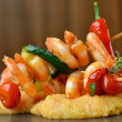 Spicy chili prawn skewers — Stock Photo #58354697