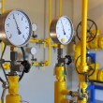 Closeup of pressure meter — Stock Photo #58354921