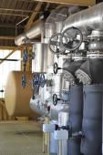 Machinery and steam turbine — Stock Photo