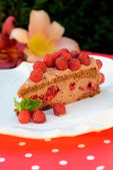 Chocolate mousse cake — Stock Photo