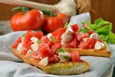 Fresh crispy Italian antipasto — Stock Photo
