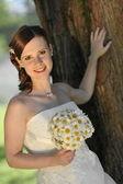 Beautiful bride posing — Stock Photo