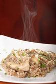 Buckwheat porridge with mushrooms — Stock Photo