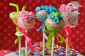 Cupcake cake pops — Stock Photo