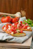 Fresh crispy Italian antipasto — Stock Photo