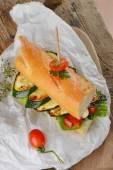 Vegetarian sandwich — Stock Photo