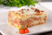 Italian lasagna with cheese — Stock Photo