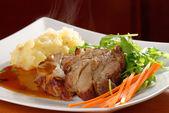 Fried pork chop, mashed potato — Stock Photo