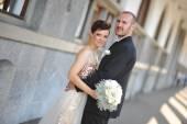 Young wedding couple — Foto Stock