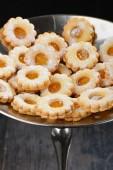 Delicious jam cookies — Stockfoto