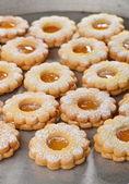 Delicious jam cookies — Stock Photo