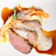 Roast of veal with potatoes — Stock Photo #61539189