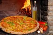 Tasty Vegetarian pizza — Stock Photo