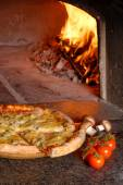 American crunchy pizza — Stock Photo