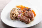 Grilled pork tenderloin — Stock Photo