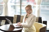 Successful and atractive middle aged businesswoman — Stock Photo