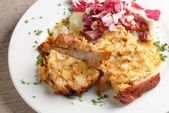 Stuffed veal breasts with potato — Foto Stock
