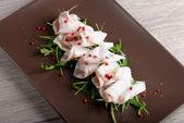 Slices of bacon Lardo di colonnata — Stock Photo