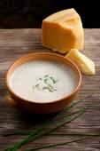 Potato and cheese cream soup — Stock Photo