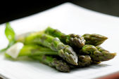 Close up of fresh green asparagus — Stock Photo