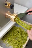 Making of italian homemade pasta — Stock Photo